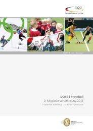 Das Protokoll - Der Deutsche Olympische Sportbund