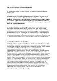 Stadt- und Sportentwicklung im demografischen Wandel Von Andrea ...
