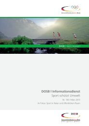 Informationsdienst SPORT SCHÜTZT UMWELT Nr. 106