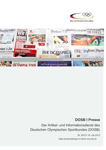 DOSB I Presse - Der Deutsche Olympische Sportbund
