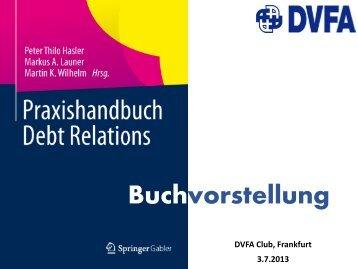 Handbuch Debt Relations Buchvorstellung