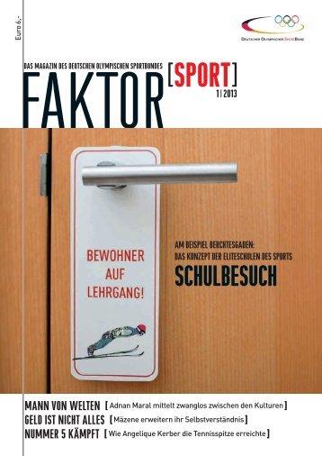 Ausgabe 1/2013 (ca. 5 MB) - Der Deutsche Olympische Sportbund