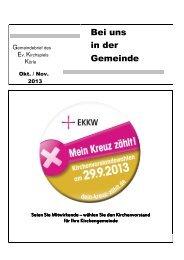 Bei uns in der Gemeinde - Evangelische Kirche von Kurhessen ...