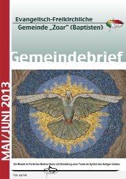 Gemeindebrief Mai/Juni 2013 - Evangelisch-Freikirchlichen ...