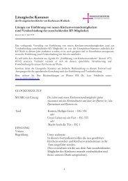 Liturgische Kammer - Evangelische Kirche von Kurhessen-Waldeck