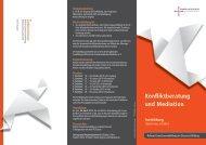 Flyer Konfliktberatung und Mediation 2014-2016