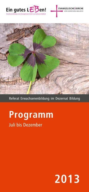 Programm - Evangelische Kirche von Kurhessen-Waldeck