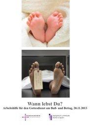 Wann lebst Du? - Evangelische Kirche von Kurhessen-Waldeck