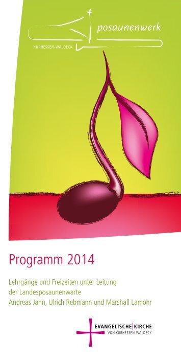 Programm 2014 - Evangelische Kirche von Kurhessen-Waldeck