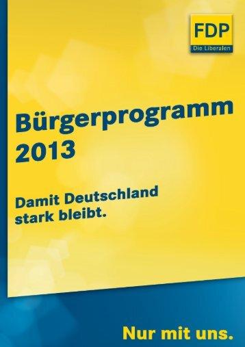 Zum Bürgerprogramm 2013 (PDF) - FDP
