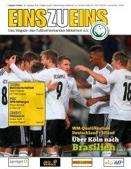 EINSZUEINS 05/2013 (Auszüge) - Fußball-Verband Mittelrhein e.V.