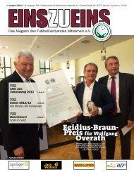 EINSZUEINS 03/2013 - Fußball-Verband Mittelrhein e.V.