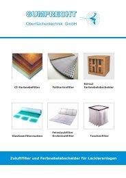 Zuluftfilter und Farbnebelabscheider für Lackieranlagen