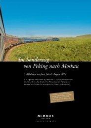 Im Sonderzug von Peking nach Moskau - Heggli AG