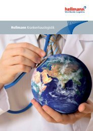 Krankenhauslogistik Folder - Hellmann Worldwide Logistics