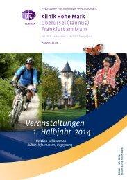 Veranstaltungen 1. Halbjahr 2014 - Klinik Hohe Mark