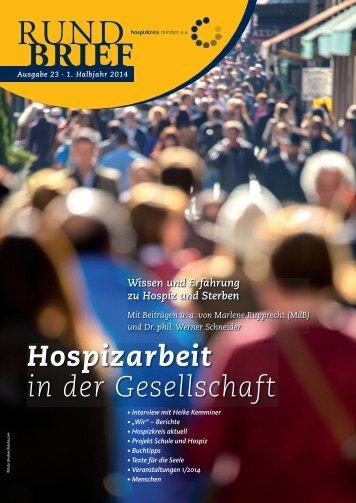 Rundbrief 23 - 1. Halbjahr 2014 - Hospizkreis Minden e.V.