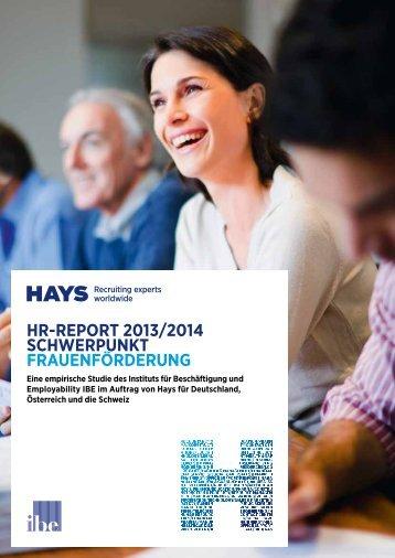 hr-report 2013/2014 schwerpunkt frauenforderung - Hays