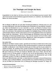 Zur Theologie und Liturgie der Ikone - Kath.de