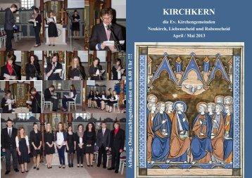 Gemeindebrief April Mai 2013 Neu - Evangelisches Pfarramt ...