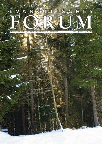 Forum Nr. 1/14 - Evangelische Kirche im Fürstentum Liechtenstein