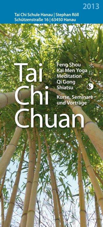 Jahresprogramm 2013 - Tai Chi Schule - Hanau