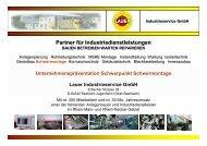 Präsentation Schwermontage - LAUER INDUSTRIESERVICE GMBH