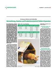 Vermarktung, Gesetze und Produktionstechnik fördern Expansion ...