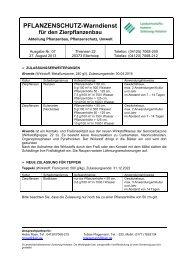 Warndienste Zierpflanzenbau 07/2013 - Landwirtschaftskammer ...