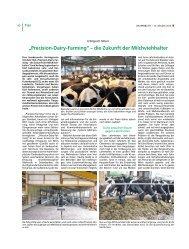 """""""Precision-Dairy-Farming"""" – die Zukunft der Milchviehhalter"""