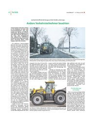Andere Verkehrsteilnehmer beachten - Landwirtschaftskammer ...