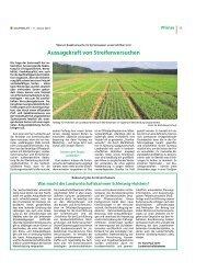 Aussagekraft von Streifenversuchen - Landwirtschaftskammer ...