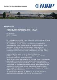 Konstruktionsmechaniker (m/w) - MAP Maschinen- & Apparatebau ...