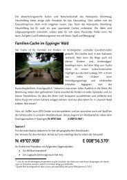 PDF-Beschreibung zum Familien-Cache im Eppinger Wald