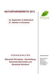 NATURPARKMÄRKTE 2012 - Naturpark Stromberg-Heuchelberg