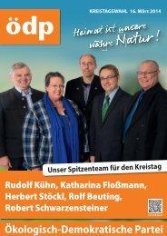 Zum ÖDP-Flugblatt mit Kurzprogramm und Kandidaten zur ...