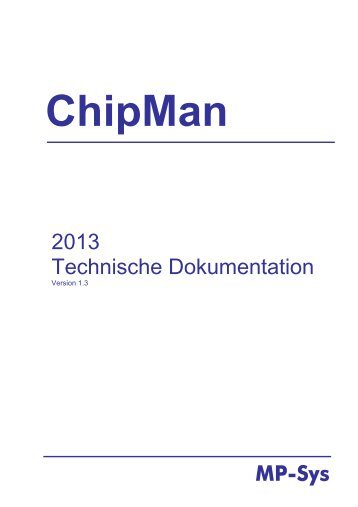 MP-Sys 2013 Technische Dokumentation - MP-Sys GmbH