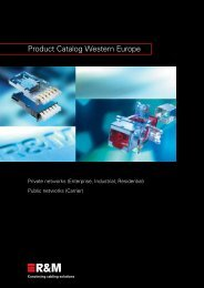 Product Catalog Western Europe - R&M