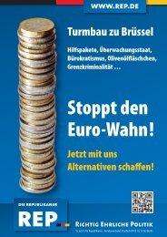 Stoppt den Euro-Wahn!
