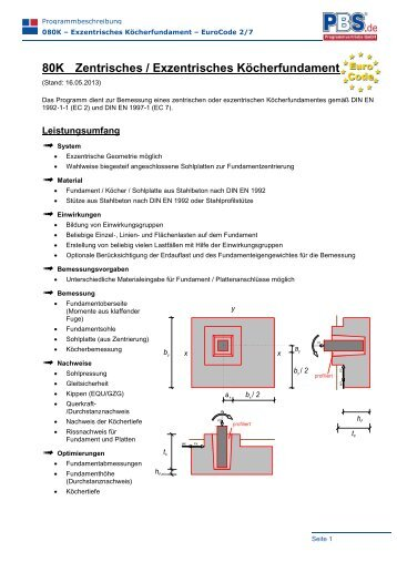 80K Zentrisches / Exzentrisches Köcherfundament