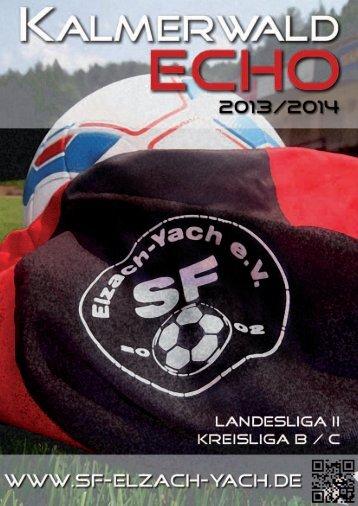 Stadionheft - SF Elzach-Yach 2002 eV