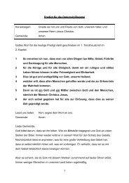Predigt für die Osterzeit (Rogate) - SELK