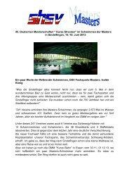 Kurze Strecken - Schleswig-Holsteinischer Schwimmverband eV