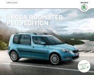 Roomster Plus Edition Broschüre/Preisliste - Skoda Auto ...