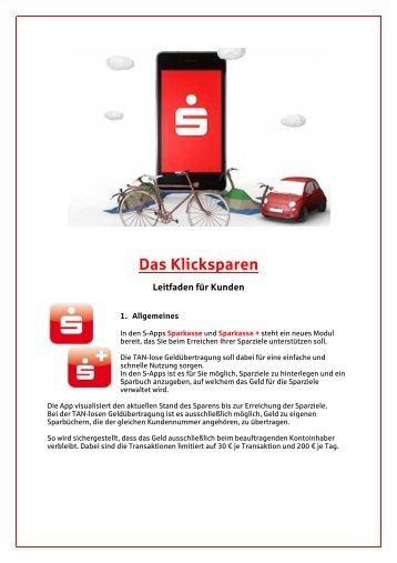 Leitfaden für Kunden - Sparkasse Altenburger Land