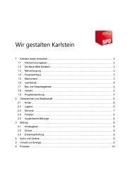 Wahlprogramm Gemeinderatswahl 2014 - SPD Karlstein