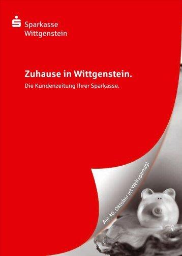 Zuhause in Wittgenstein. - Sparkasse Wittgenstein
