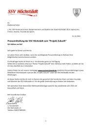 Projekt Zukunft - SSV Höchstädt e.V.
