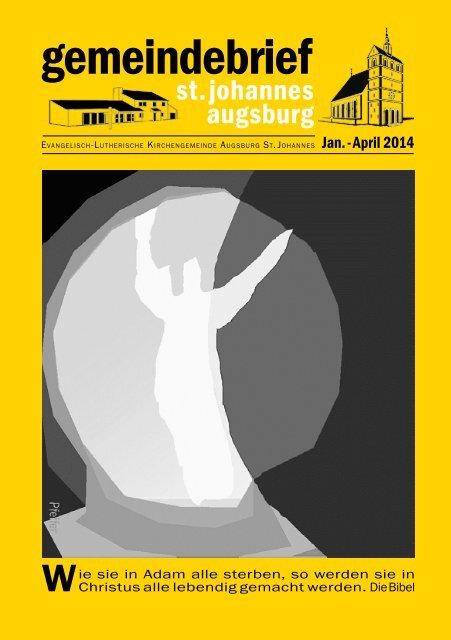 gemeindebrief - Evang.-Luth. St.Johanneskirche Augsburg ...