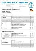 Preisliste für Mietausrüstung & Gasfüllungen gültig ab 1. Januar 2014 - Page 2
